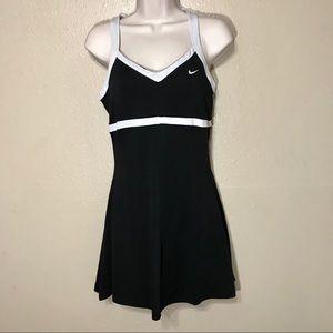 🎾 Nike Dri Fit Tennis Dress Black & White